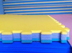 Coverings rubber for playgrounds