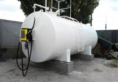 Container and modular filling stations for diesel