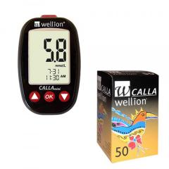 Акционный набор Глюкометр Wellion Calla Mini + тест-полоски №50 + ланцеты №50 ,Австрия