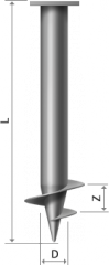 Screw piles of 108 mm about the mm blade 300