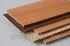 Laminated wood-shavings