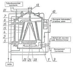 Installation for gas-phase saturation of