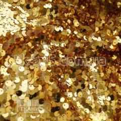 Ткань Пайеточная ткань круглая ( золото )