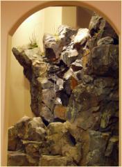 Interior design, artificial rocks