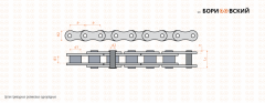 Chains driving roller single-row in accordance