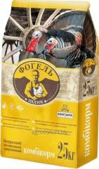 Compound feed for turkey poults