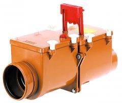 Mechanical main sewer lock, el. drive, Dn160mm,