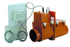 Mechanical main sewer lock, el. drive, Dn125mm,
