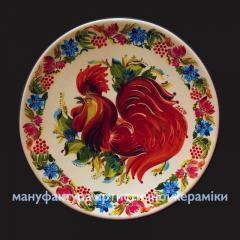 Керамическая тарелка Огненный Петух