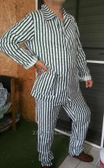 Men's pajamas of 100% koton