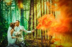 Ручной цветной дым (дымовая шашка), оранжевый, 60