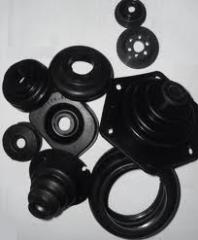 Rubber products (RTI) for the industry: inserts,
