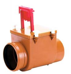 Mechanical main sewer lock from ABS, Dn110mm,