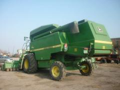 The combines which were in the use. John Deere