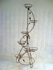 Кованая подставка для цветов - Серпантин 7