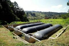 Biogas installations which provide with energy