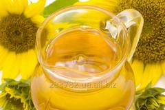 The oil which is not refined sunflower for export
