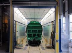 Окрасочно-сушильная камера для окраски вагонов с последующей сушкой