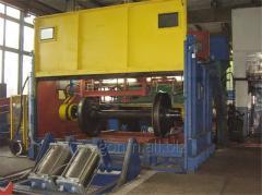 Автоматизированный комплекс для мойки колесных пар