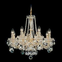 Chandelier crystal Preciosa a covering brass on 8