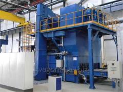 Дробеметная установка для очистки листового и профильного металлопроката