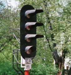 Мачтовые линзовые светофоры (на железобетонной