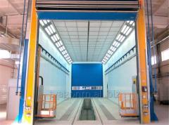Промышленные окрасочно-сушильные камеры для окраски и сушки сварных металлоконструкций