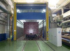 Окрасочно-сушильная камера для окраски вагонов с последующей сушкой окрашенных поверхностей конвективным способом