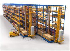 Автоматизированные склады стеллажного типа для приема и хранения запаса деталей, узлов и агрегатов
