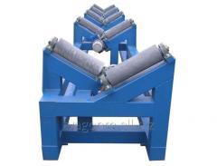 Рольганг для поступательного перемещения труб большого диаметра (состоит из рамы, приводных роликов холостых роликов)