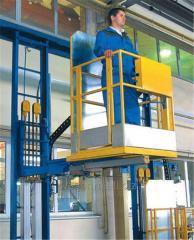 Подъемные тележки для подъема и продольного перемещения одного рабочего с инструментами, создавая безопасные и удобные условия для работы
