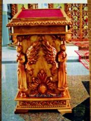 Lectern small temple, carved