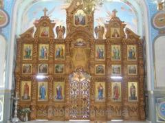 The iconostasis varnished baroque, a carving a