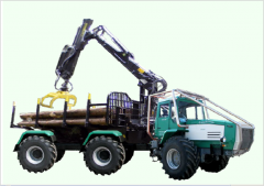 Forwarder on the basis of the HTA-200 tractor