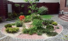 Landscaping and gardening of territories.