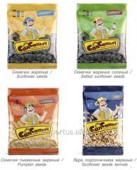 Las semillas de girasol TM SanSanych, salados