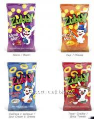 Bolas de maíz TM Zubby, 30 g de tocino