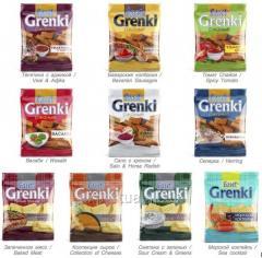 Centeno tostadas TM Flint Grenki, cangrejo cocidos