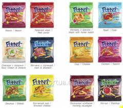 Пшеничные сухарики ТМ Flint Max, морепродукты 100 г. От одного контейнера.