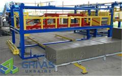 Equipment for cutting of foam concrete