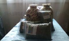 Гриби сушені, травяні чаї