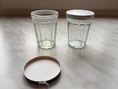 Glass for ml vodka 100 under an aluminum cap with