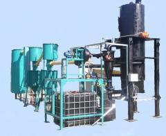 Gas generator on biomass waste