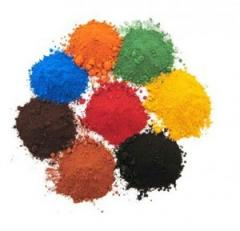 Pigments are iron oxide red, iron oxide dyes for