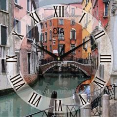 """Часы настенные """"Каналы Венеции"""""""