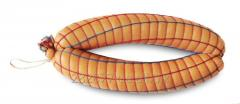 Сетка для колбасы Классик 40x6, цвет нитей красная+цветная