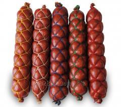Сетка для колбас формообразующая Дельта 50x4, цвет нитей жёлтый, белый, синий, зелёный, красный