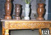 Vases from granite, marble