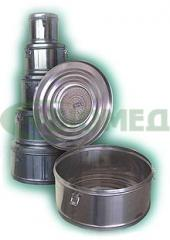 Коробка стерилизационная круглая с фильтром КСКФ-3 (Объем 3 дм3, Диаметр 175мм)