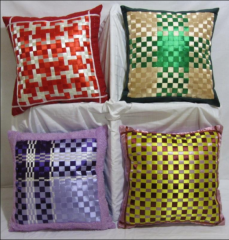 Decorative pillowcases of handwork from satin